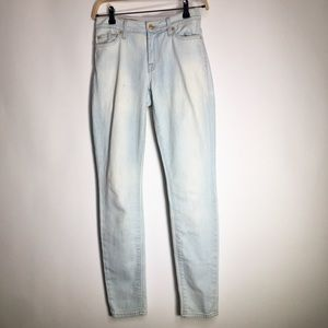 7 For All Mankind Size 27 The Skinny Light Blue